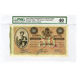 Banco Espanol de la Isla de Cuba. 1896. Issued Banknote.