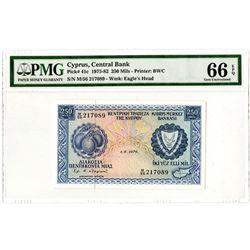 Kibris Merkez Bankasi. 1976. Issued Banknote.