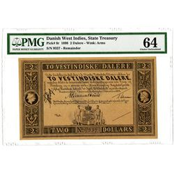 State Treasury. 1898. Unissued Remainder Banknote.