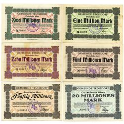 Germany. Gemeinde Troisdorf, Set of Notgeld, 1923.