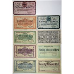Germany. Hennef, 1923 Group of Notgeld