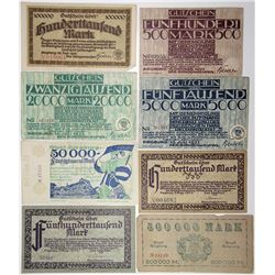 Germany. Siegburg, 1923 Group of Notgeld