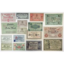 Notgeld Issues. 1918-1919. Good Assortment by Various Issuers.