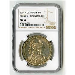 Prussia. 1901. Bicentennial Silver Commemorative.