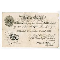 Bank of England. 1934. Issued Banknote.