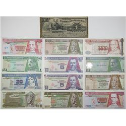Banco de Guatemala & Other Issuers. 1918-2011. Lot of 13 Issued Notes.