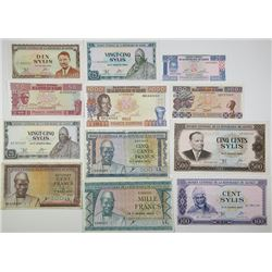 Banque Centrale de la Republique de Guinee. 1960-1998. Lot of 12 Issued Notes.