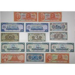 Banque de la Republique d'Haiti. 1979-1993. Lot of 14 Issued Notes.