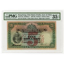 Chartered Bank of India, Australia & China, 1940, Issue Note