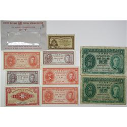 Government of Hong Kong. 1945-1949. Lot of 9 Issued Notes.