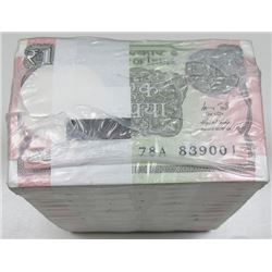 Government of India, 2015 Original Sealed Brick of 1000 (10 Packs of 100)
