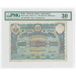 India - Princely States / Hyderabad, ND (1945-46) Issued Banknote.