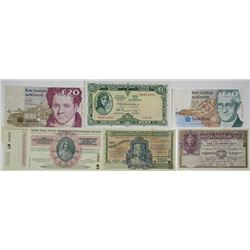 Central Bank of Ireland & Other Issuers. 1936-1993. Lot of 6 Issued Notes.