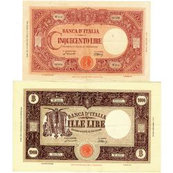 Banca d'Italia. 1946-1955. Quartet of Issued Banknotes.