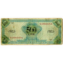 Allied Military Currency. 1943. Contemporary Counterfeit Note.