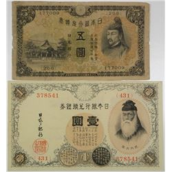 Bank of Japan. 1916-1930. Possible Error Note.