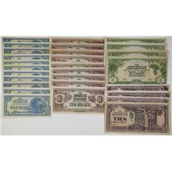 De Japanische Regeering, ND (1942) Banknote Assortment