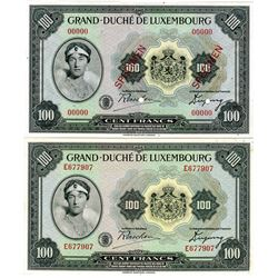 Allied Occupation-WWII, Grand Duche de Luxembourg. ND (1944). Pair of banknotes.
