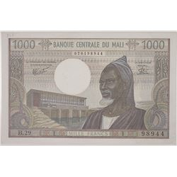 Banque Central du Mali. Issued Note.