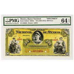 Banco Nacional De Mexico. ND (1895-1913). Specimen Banknote.