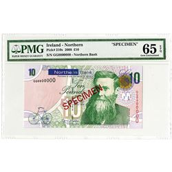Northern Bank. 2008 Specimen Banknote.