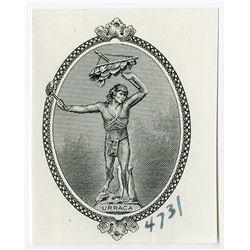 "Republica De Panama, 1941 ""Arias"" Issue Banknote Proof Vignette"