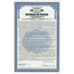 Republic of Poland, 1938 Specimen Bond