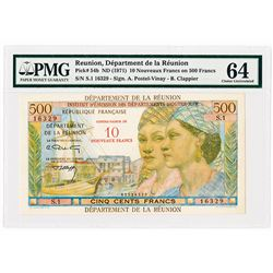 Department de la Reunion, ND (1971) Issue Banknote.