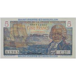 Caisse Centrale de la France d'Outre-Mer. Issued Note.