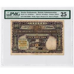 Government of the Straits Settlements, 1929 Issue Banknote Rarity.