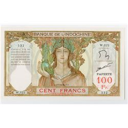 Banque de l'Indochine. ND (1939-1965). Issued Banknote.