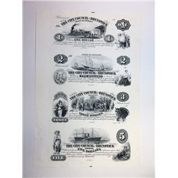 Brunswick, City Council of Brunswick, $1-2-3-5 ABN Proprietary Proof Sheet