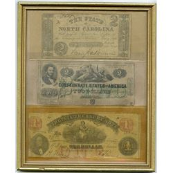 Mixed Issuers. 1862-1866. Trio of Obsolete Notes.