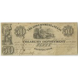Government of Texas, 1837 Cut Cancelled Obsolete Banknote