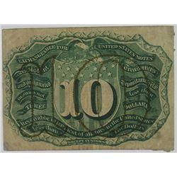 Fractional Currency. ND (1863). Back Specimen.
