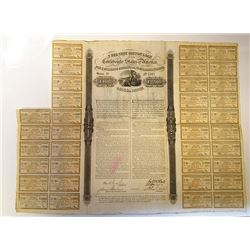 Confederate States of America, 1863 7% Cotton Loan, I/U Bond.