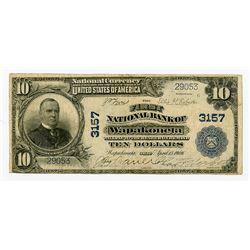 OH. First National Bank of Wapakoneta, 1902, $10 PB, Ch#3157, National Banknote.