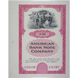 American Bank Note Co. Color Chart Quartet