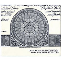 American Bank Note Co. ND (1970-80's). Guide to Detecting Counterfeit Stock Certificates.