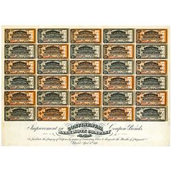 "Continental Bank Note Co., 1876 ""Improvement in Coupon Bonds"" Advertising Sample Sheet"