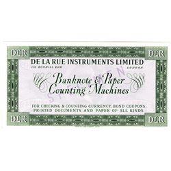 De La Rue Instruments Ltd., ca.1940-50s Specimen Note
