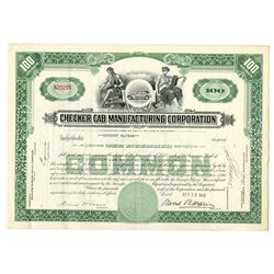 Checker Cab Manufacturing Corp. 1957 I/C Stock Certificate