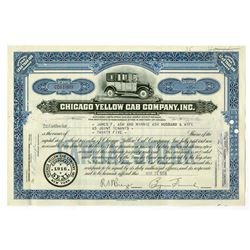 Chicago Yellow Cab Co., Inc. 1958 I/C Stock Certificate