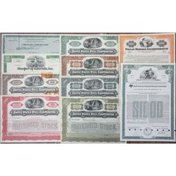 Automobile & Transportation Collection of I/C Stock Certificates, 1928-1976