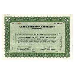 Globe Aircraft Corp., ca.1930-1950 Specimen Stock Certificate
