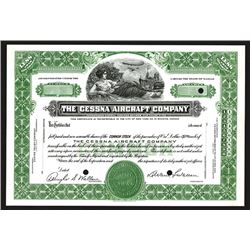 Cessna Aircraft Co., 1934 Specimen Stock Certificate.