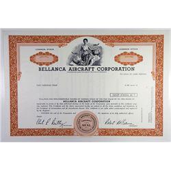 Bellanca Aircraft Corp., 1972 Specimen Stock Certificate