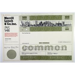 Merrill Lynch & Co. Inc. 1978 Specimen Stock Certificate