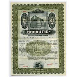 Mutual Life Insurance Co. of New York, 1909 Specimen Bond