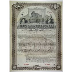 United States Mortgage & Trust Co. 1898 Specimen Bond
